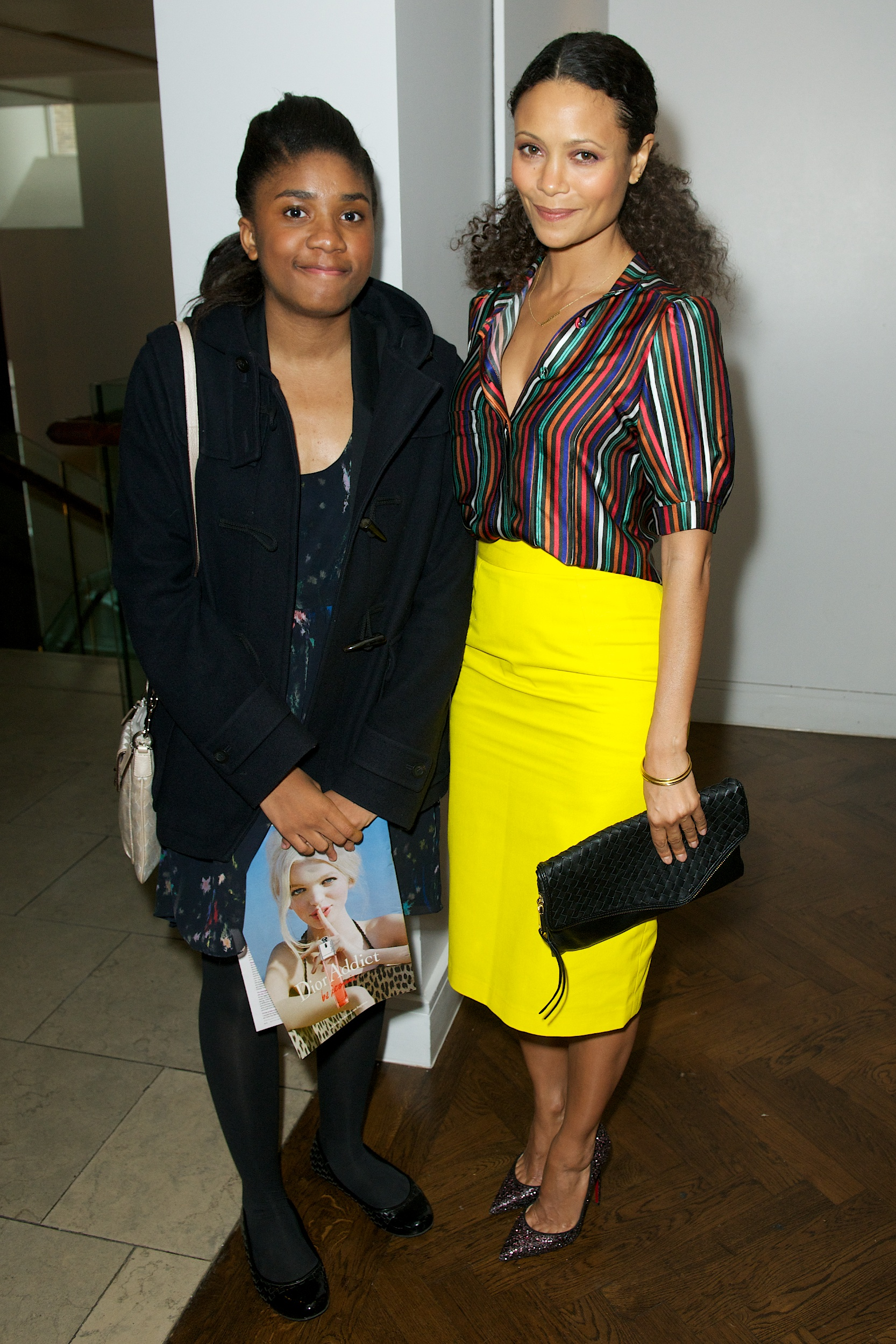 Iolanda Neto with Mentor Thandie Newton at The Hospital Club in Covent Garden on Tuesday'