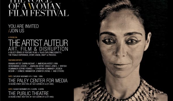 ARTIST SHIRIN NESHAT :::::: RECEIVES THE VOICE OF A WOMAN AWARD – NEW YORK
