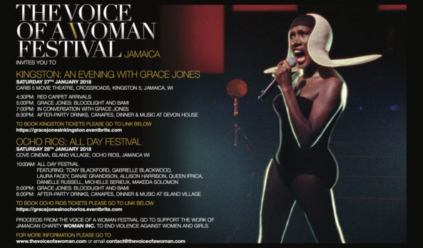 THE VOICE OF A WOMAN FESTIVAL JAMAICA 27TH + 28TH JAN 2018 – PROGRAM